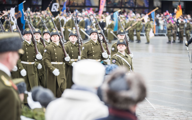 Independence Day military parade held at Freedom Square