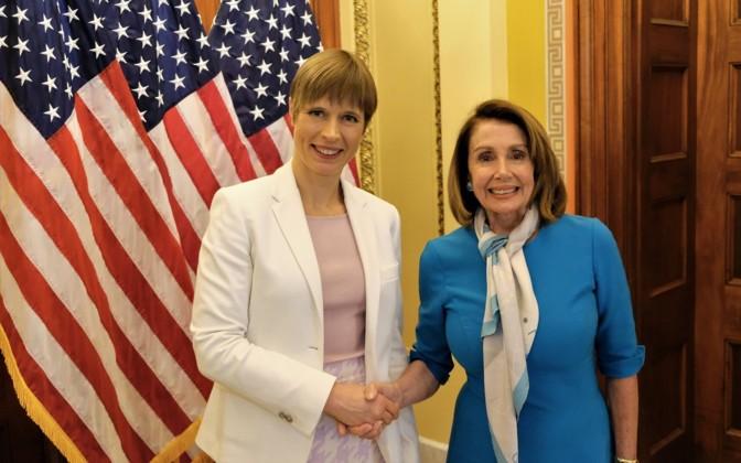 President Kaljulaid meets with Speaker Pelosi