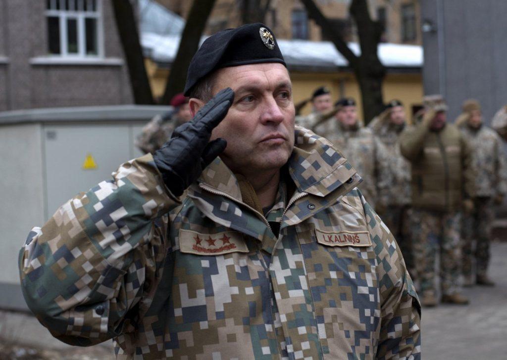National Armed Forces Commander Leonids Kalnins
