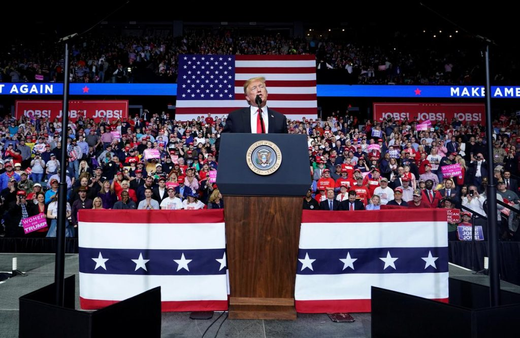 At rally, Trump says Russia probe backers tried to steal power illegally