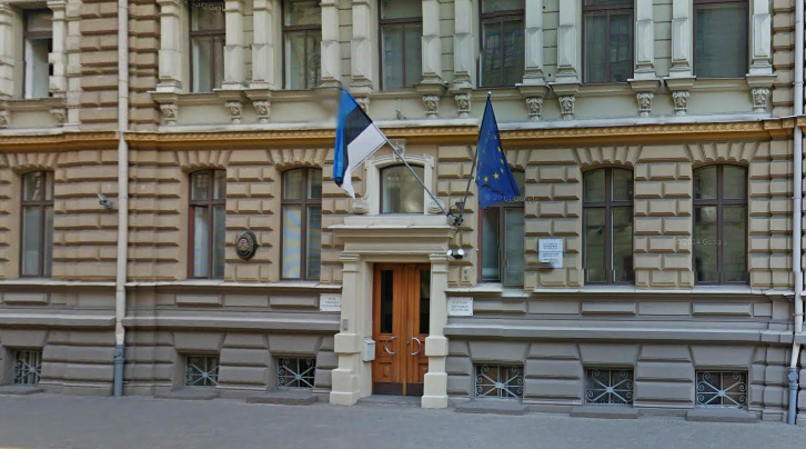 Estonia's current embassy building in the Latvian capital Riga