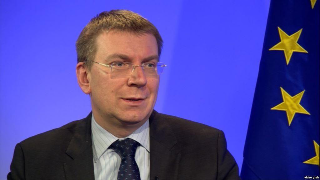 Latvian foreign minister, Edgars Rinkēvičs