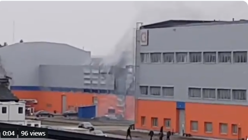 Fire breaks out in territory of NP Jelgava Business Park