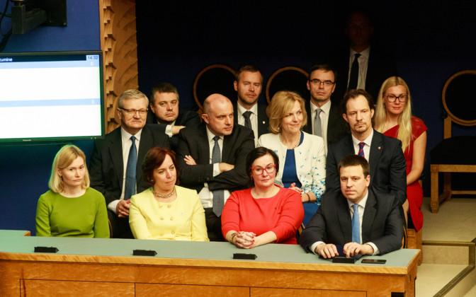 Jüri Ratas' (Centre) outgoing government