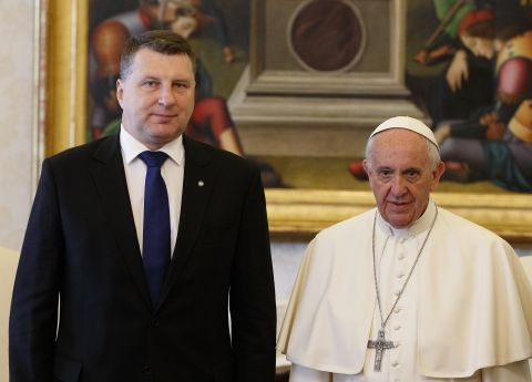 Vejonis to meet with Pope Francis today