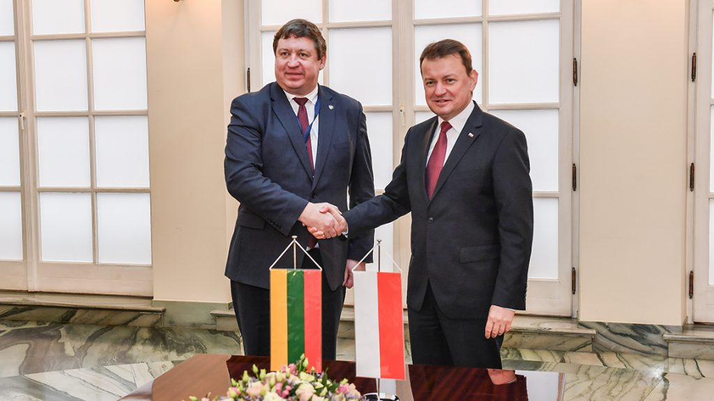 Minister of Defence R.Karoblis attend celebration of Poland's 20th anniversary in NATO