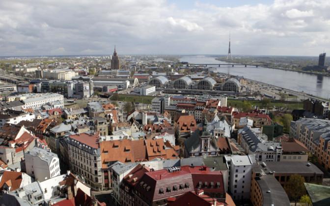 Baltic prime ministers in Riga
