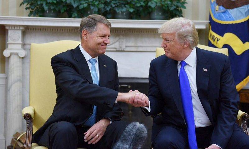 President of Romania Klaus Iohannis with the American leader Donald Trump