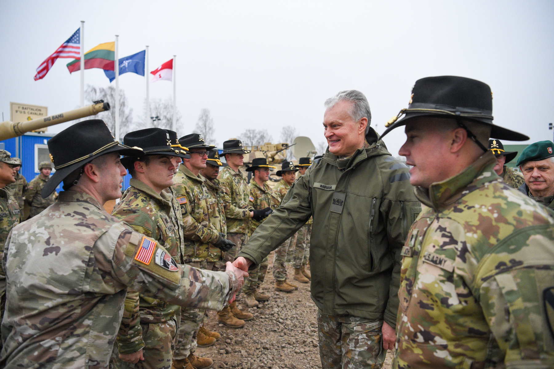 New American military camp in Lithuania