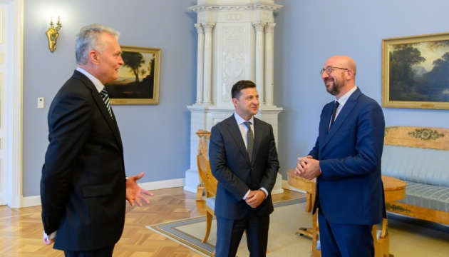 Presidents of Lithuania and Ukraine with EU Council discuss security situation in region